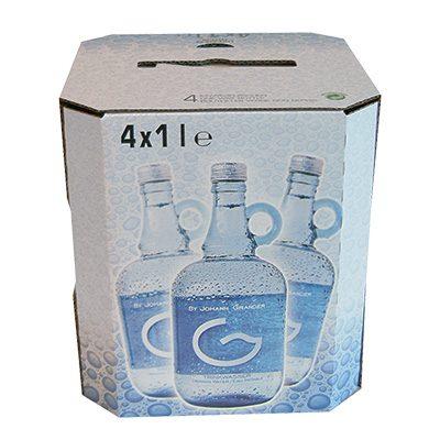 Grander drinkwater in flessen